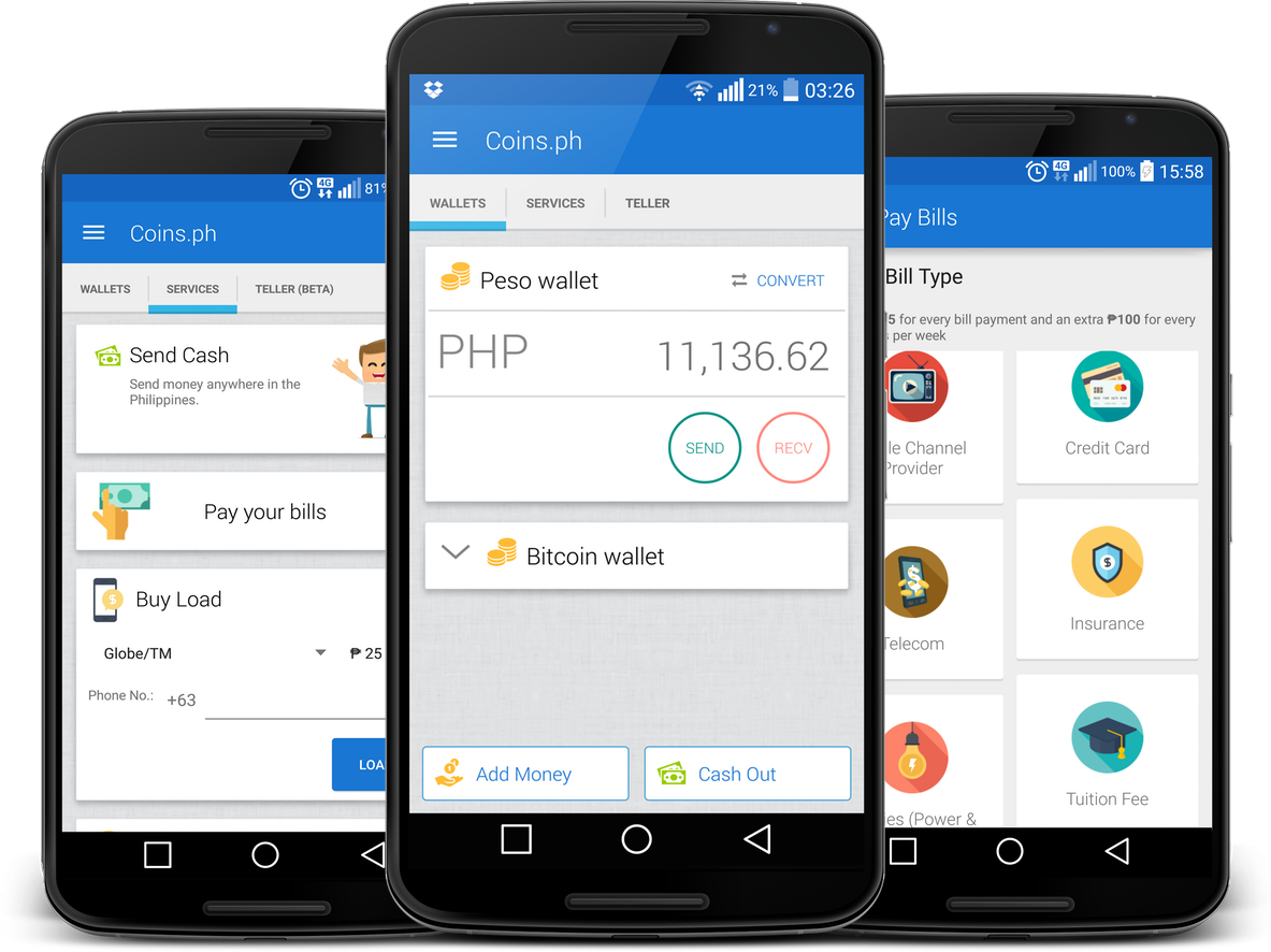 Coins.ph is the best way to send money, pay bills, and load your phone in the Philippines.